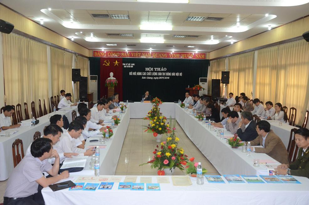 Hội thảo Đổi mới nâng cao chất lượng Bản tin thông báo nội bộ