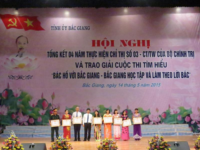 Trao giải Cuộc thi tìm hiểu: Bác Hồ với Bắc Giang- Bắc Giang học tập và làm theo lời Bác